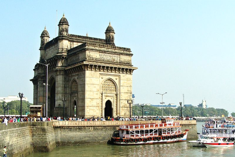 Der Triumphbogen Gateway of India in Mumbai.