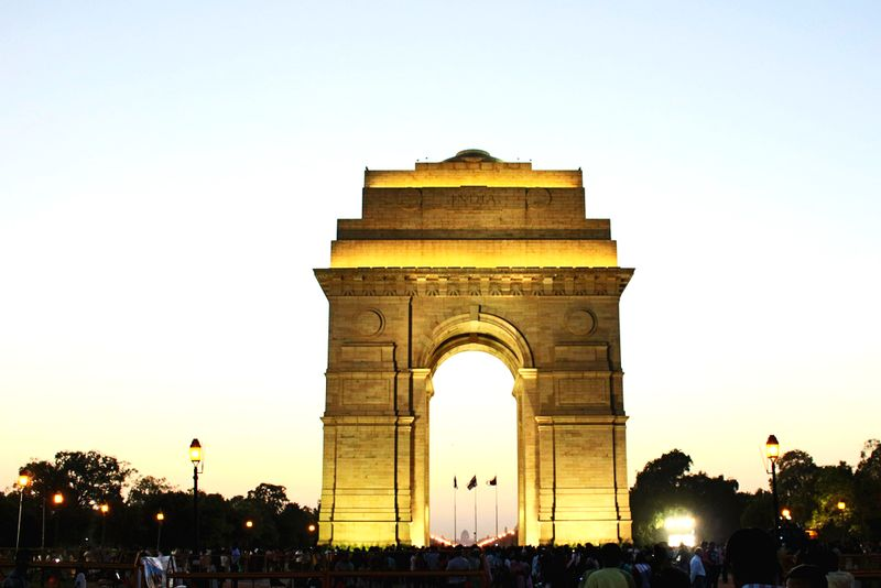Das Indian Gate in Neu-Delhi.