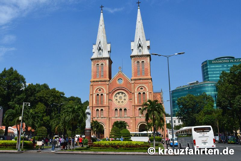 Die Kathedrale Notre Dame in Ho-Chi-Minh-Stadt