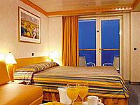 Aussenkabine mit grossem Balkon Costa Mediterranea