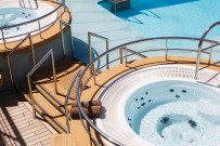 Jacuzzi on the pool deck